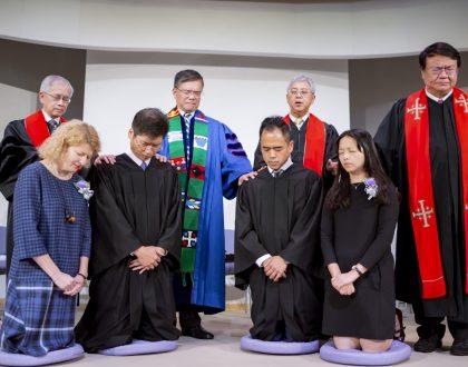按立葉伯光傳道及黎偉恒傳道為牧師典禮